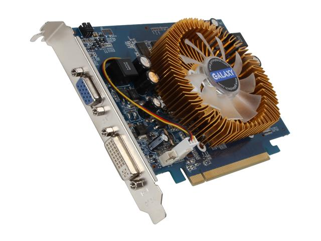 GALAXY 95TGE8DC1CUM GeForce 9500 GT 1GB 128-bit DDR2 PCI Express 2.0 x16 HDCP Ready SLI Support Video Card