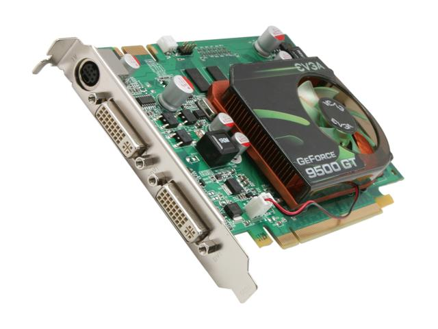 EVGA 01G P3 N959 BR GeForce 9500 GT 1GB 128-bit DDR2 PCI Express 2.0 x16 HDCP Ready SLI Support Video Card