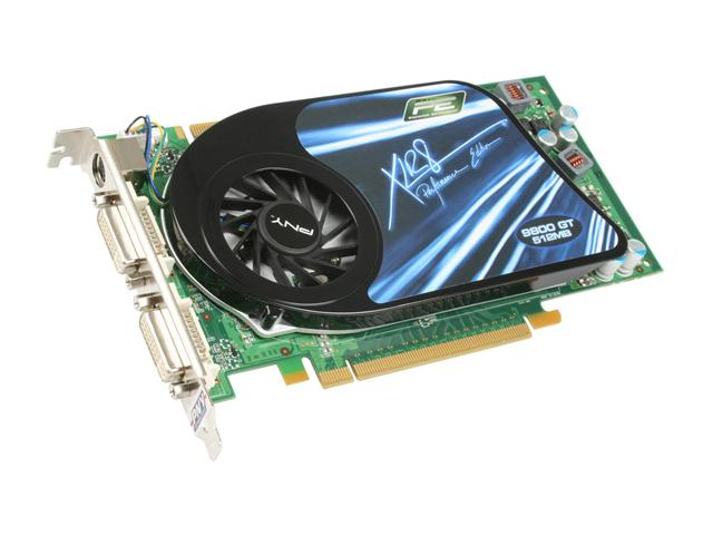 PNY VCG98GTEE5XEB XLR8 GeForce 9800 GT EE 512MB 256-bit GDDR3 PCI Express 2.0 x16 HDCP Ready SLI Supported Video Card