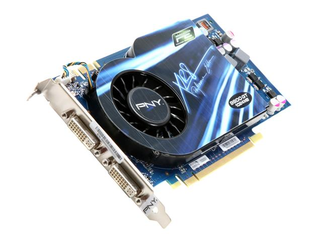 PNY VCG98GTEE1XEB XLR8 GeForce 9800 GT 1GB 256-bit GDDR3 PCI Express 2.0 x16 HDCP Ready SLI Support Video Card