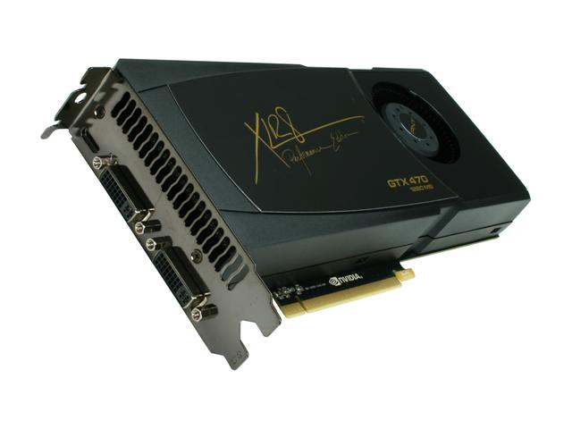 PNY VCGGTX470XPB XLR8 GeForce GTX 470 (Fermi) 1280MB 320-bit GDDR5 PCI Express 2.0 x16 HDCP Ready SLI Support Video Card