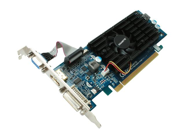 GIGABYTE GV N210D3 512I GeForce 210 512MB 64-bit DDR3 PCI Express 2.0 x16 HDCP Ready Low Profile Ready Video Card