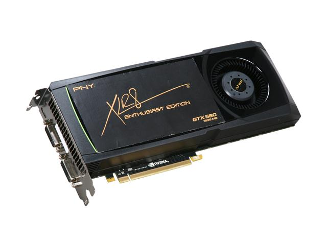 PNY VCGGTX580XPB GeForce GTX 580 (Fermi) 1536MB 384-bit GDDR5 PCI Express 2.0 x16 HDCP Ready SLI Support Video Card