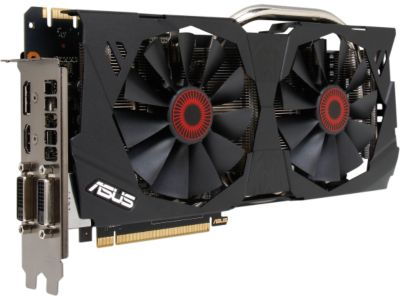 ASUS STRIX-GTX970-DC2OC-4GD5 GeForce GTX 970 4GB 256-Bit GDDR5 PCI Express 3.0 SLI Support G-SYNC Support Video Card