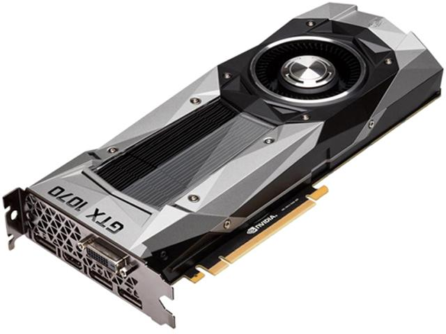 NVIDIA 900-1G411-2520-001 GeForce GTX 1070 Founders Edition 8GB GDDR5X PCI Express 3.0 Video Card