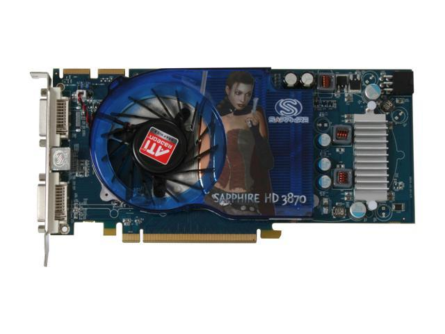 SAPPHIRE 188-01E62-01ASA RADEON HD 3870 512MB PCI-E X16 DUAL DVI TV Out