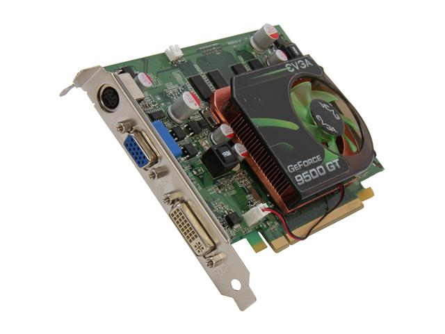 EVGA 01G-P3-N958-LR GeForce 9500 GT 1GB 128-bit DDR2 PCI Express 2.0 x16 HDCP Ready Video Card