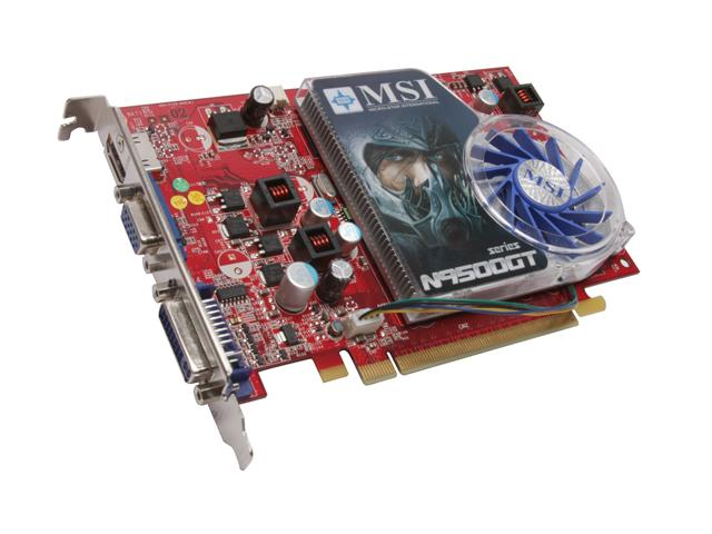 MSI N9500GTMD512 GeForce 9500 GT 512MB 128-bit GDDR2 PCI Express 2.0 x16 HDCP Ready SLI Support Video Card