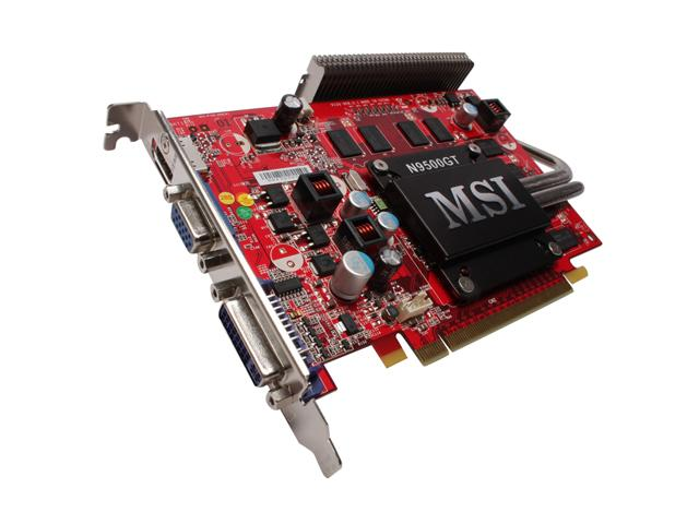 MSI N95GT MD512Z GeForce 9500 GT 512MB 128-bit GDDR2 PCI Express 2.0 x16 HDCP Ready Video Card