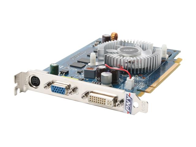 PNY VCG85512GXPB GeForce 8500 GT 512MB 128-bit GDDR2 PCI Express x16 SLI Support Video Card