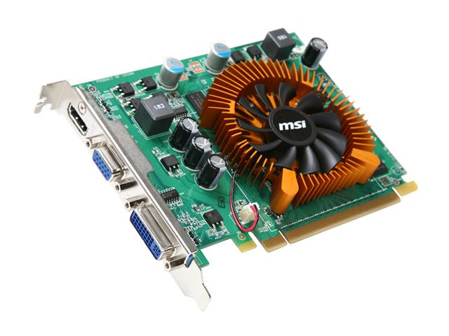 MSI VN220GT-MD1G GeForce GT 220 1GB 128-bit DDR2 PCI Express 2.0 x16 HDCP Ready Video Card