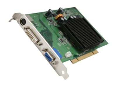 EVGA 256P1N400 GeForce 6200 256MB 64-bit DDR2 PCI Low Profile Ready Video Card