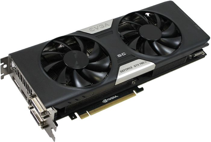 EVGA 03GP42884KR Nvidia GeForce GTX 780 Ti Superclocked w/ACX Cooler 3GB 384bit GDDR5 Dual-Link DVI-I DVI-D HDMI DP SLI Graphics Card.