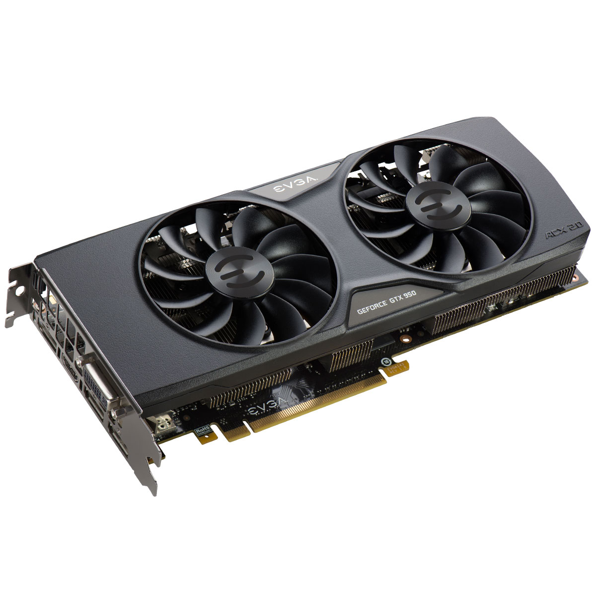 EVGA 02G P4 2957 KR NVIDIA GEFORCE GTX 950 SSC GAMING ACX 2.0 2GB GDDR5 PCI-E 3.0 16x VIDEO CARD.
