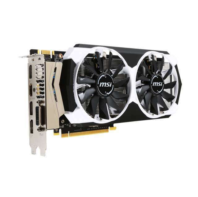 MSI GTX 960 4GD5T OC NVIDIA GEFORCE GTX 960 OC 4GB GDDR5 DVI/HDMI/3DISPLAYPORT PCI-E VIDEO CARD.